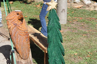 Dan Collom's Chainsaw Carving Tree & Eagle
