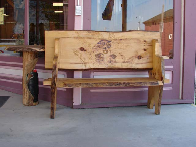 Dan Collom's Chainsaw Carving Table & Bench