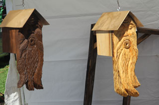 Dan Collom's Chainsaw Carving Birdhouse